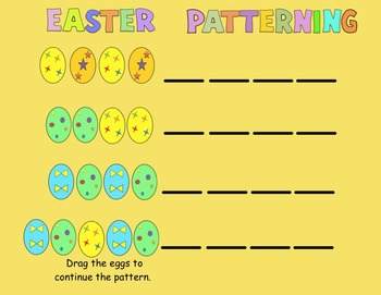 Easter for Kinders:  Interactive Smartboard Activities and Printables