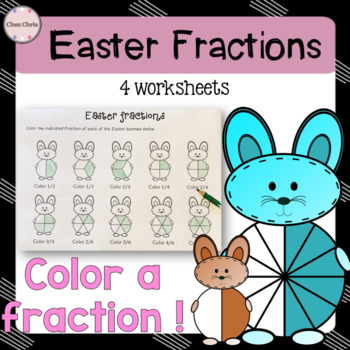 Easter fractions: Color a fraction !