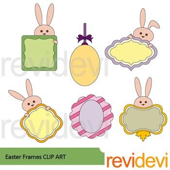 Easter frames clip art