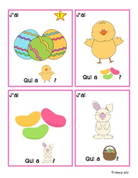 Easter game - Qui a? FRENCH