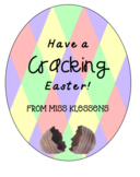 Easter gift tag - Easter eggs