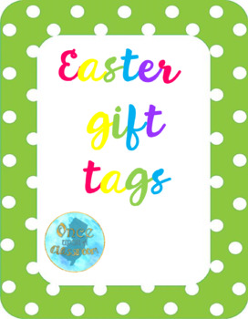 Easter gift tags by onceuponaclassroomnj teachers pay teachers easter gift tags negle Image collections
