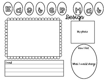 easter hat design template by miss kirby s class tpt