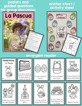 Easter in Spanish, chick, bunny, basket