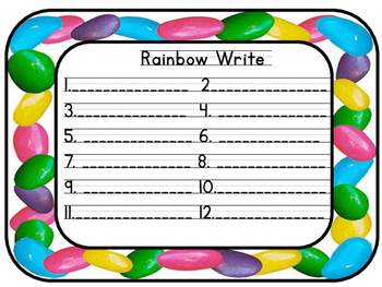 Easter is Here! Write the Room Word Work