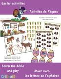 Easter letters activities / Activités pour Pâques sur les lettres