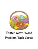 Easter math Word Problems Task Cards