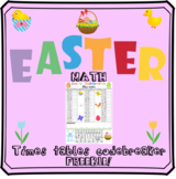 Easter math - multiplication codebreaker freebie