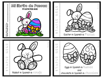 Easter mini-book in Spanish ~ Mi librito de Pascua