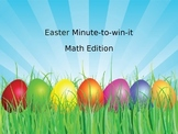 Easter minute-to-win-it Math Edition