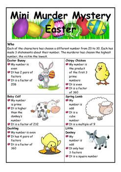 Easter murder mystery