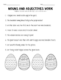 Easter noun and adjectives practice