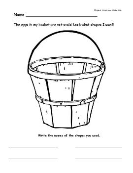 Easter or Spring Basket with Shapes