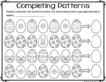 Easter Activities for First Grade - NO PREP Math and ELA Pack {CCS Aligned}