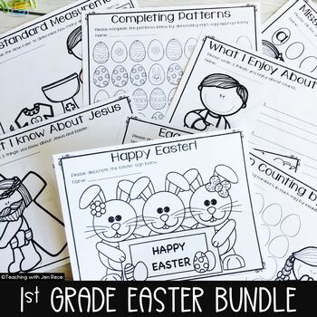 Easter Math and Literacy for First Grade
