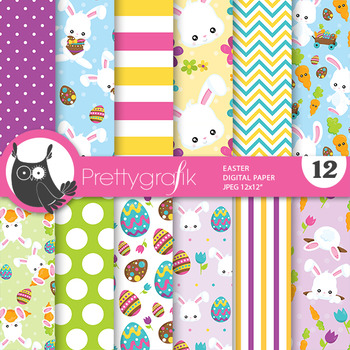 Easter papers, commercial use, scrapbook papers - PS782