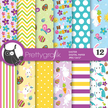 Easter papers, commercial use, scrapbook papers - PS783