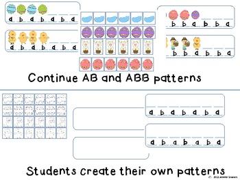 Easter patterning Math Center