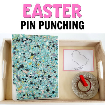 Easter pin punching printables (Montessori printables)