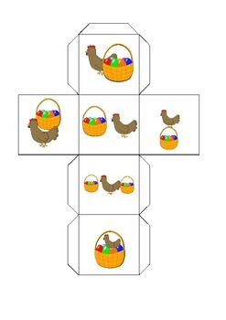 Easter prepositions (flash cards, dice and worksheet)
