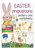 Easter prepositions - worksheets + posters, ESL, English b