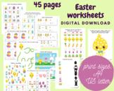 Easter preschool worksheets for kids, Toddler activity book, Learning binder