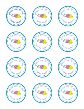 picture regarding Printable Round Labels identify Easter printable - Spherical labels