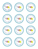 Easter printable - Round labels