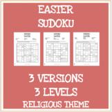 Easter religious theme sudoku puzzles