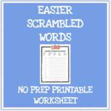 Easter scrambled words no prep printable worksheet - Secul