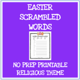 Easter scrambled words no prep printable worksheet - Relig