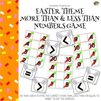 Easter theme More than, Less than Math Game
