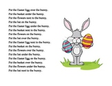 Easter theme Spatial and Temporal Directions part 2