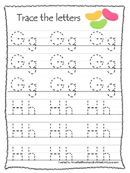 Easter themed A-Z Tracing Worksheets.Printable Preschool Handwriting