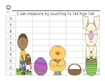 Easter themed Non-Standard Measurement