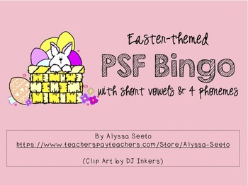 Easter-themed PSF Bingo