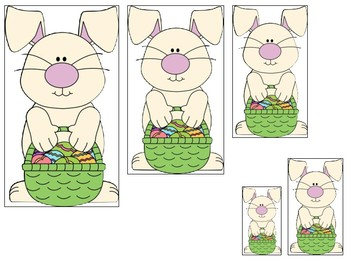 Easter themed Size Sequence. Printable Preschool Game