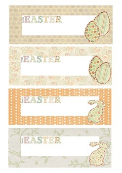 Easter themed labels