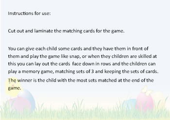 Easter themed - matching equivalent fractions, decimals and percentages