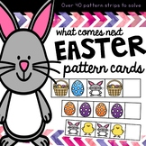 Easter activity math pattern sequencing cards for prek and