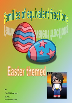 Easter themed - show equivalent fraction families with diagrams