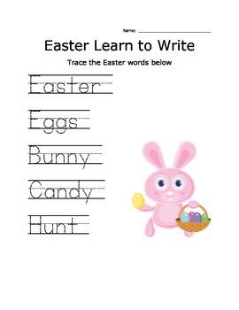 Easter tracing (nonreligious)