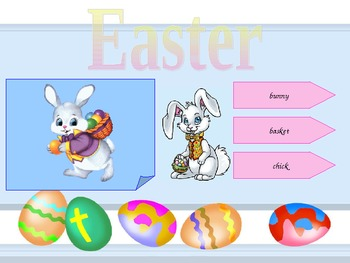 Easter vocabulary with Bunny