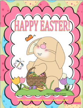 Free Downloads Easter and Spring Printable!! Cute! 20 words! Distance Learning