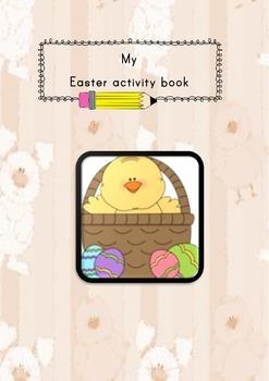 Easter workbook, math, phonics