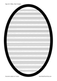 Easter/Egg/Oval Blank Writing Template