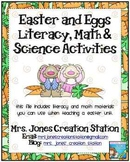 Easter/Oviparous Literacy Math and Science Activities