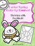 Easter and Spring Color by Number- Dividing Decimals!