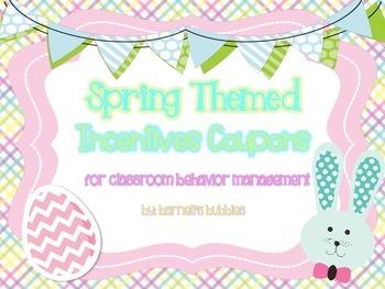 Classroom Management: Easter/Spring Reward Coupons