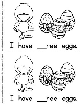Easter/Spring Fill-In-The-Blanks Digraph Book *FREEBIE*